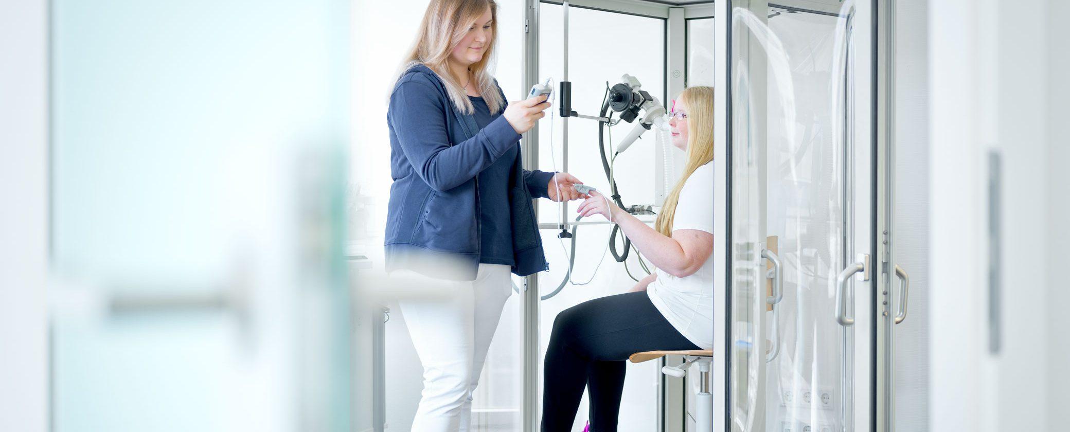 Pneumologie: Prüfung der Lungenfunktion